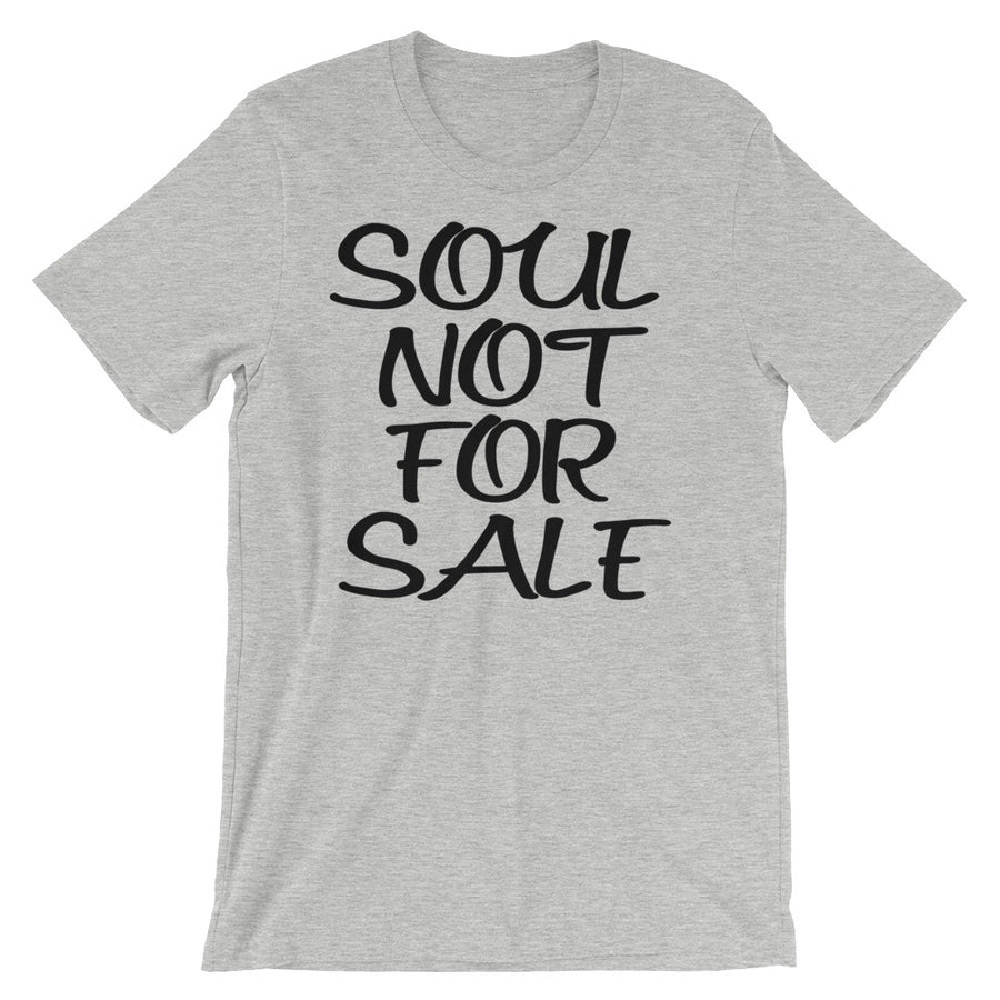 "Vegan-Styles ""Soul Not For Sale"" Short-Sleeve Unisex T-Shirt - vegan-styles"