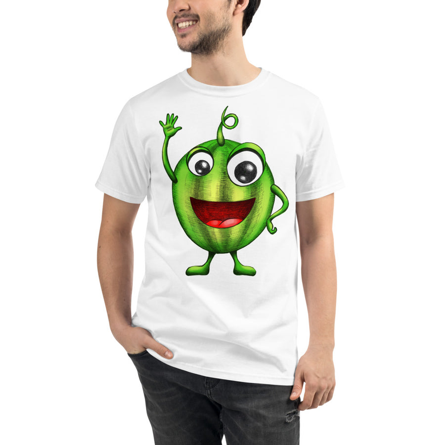 '' Happy Watermelon'' Organic T-Shirt - vegan-styles