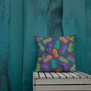 '' Pineapples'' Premium Pillow - vegan-styles