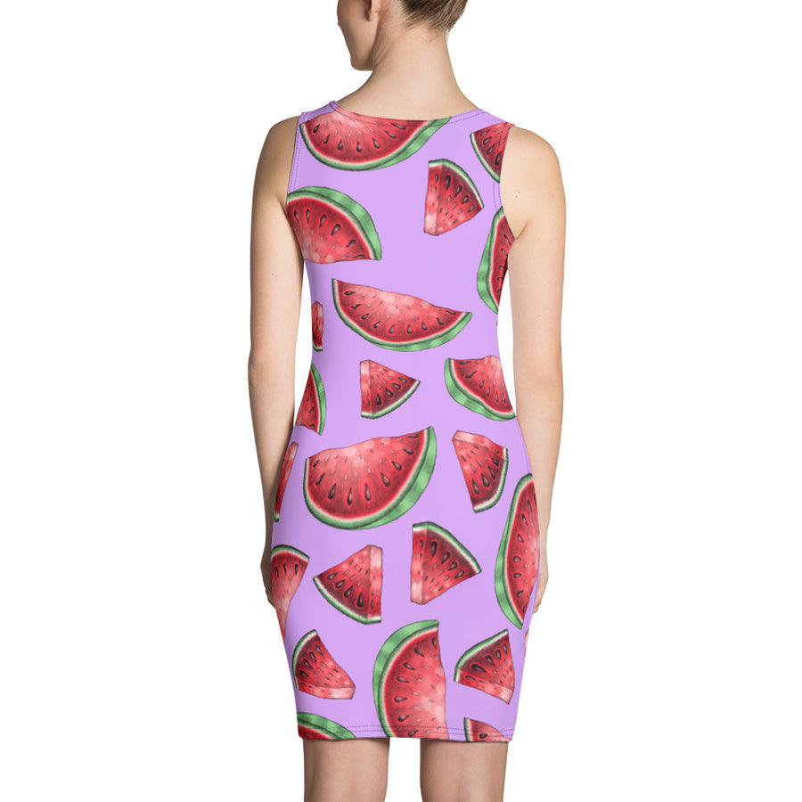 '' watermelon'' Sublimation Cut & Sew Dress - vegan-styles