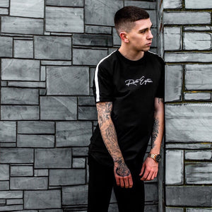 Black Signature Tape Tee