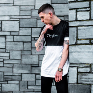 Signature Black/White two panel Tee