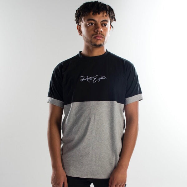 Signature Black/Grey Two Panel Tee