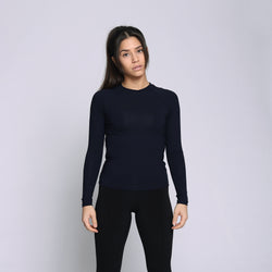 Bamboo Navy Long Sleeves Shirt - WDCS | Widesthetics