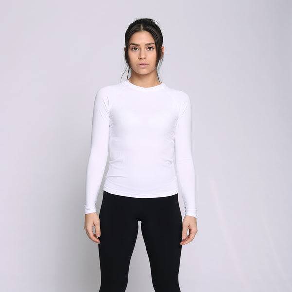 Bamboo White Long Sleeves Shirt - WDCS | Widesthetics