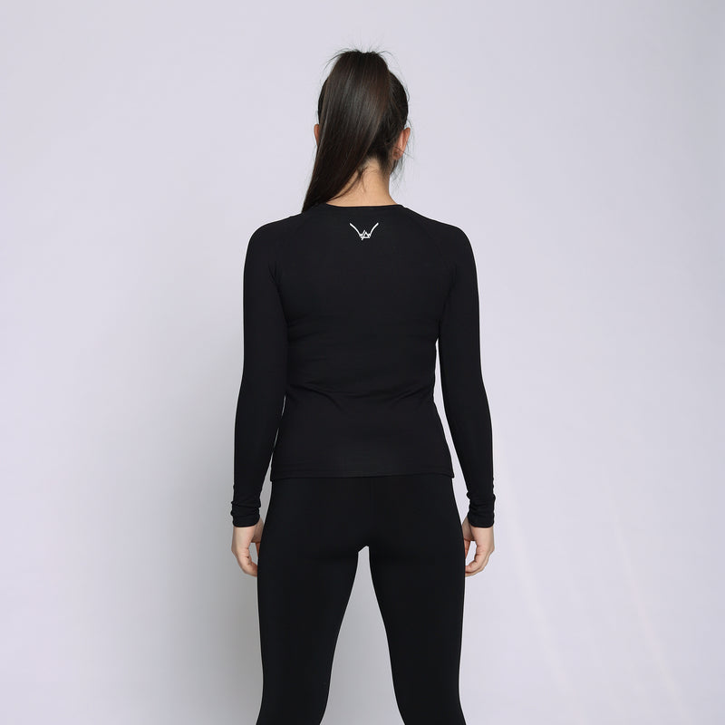 Bamboo Black Long Sleeves Shirt - WDCS | Widesthetics