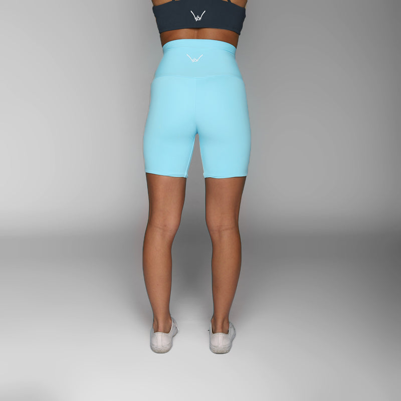Dusty Blue Bike Shorts - WDCS | Widesthetics