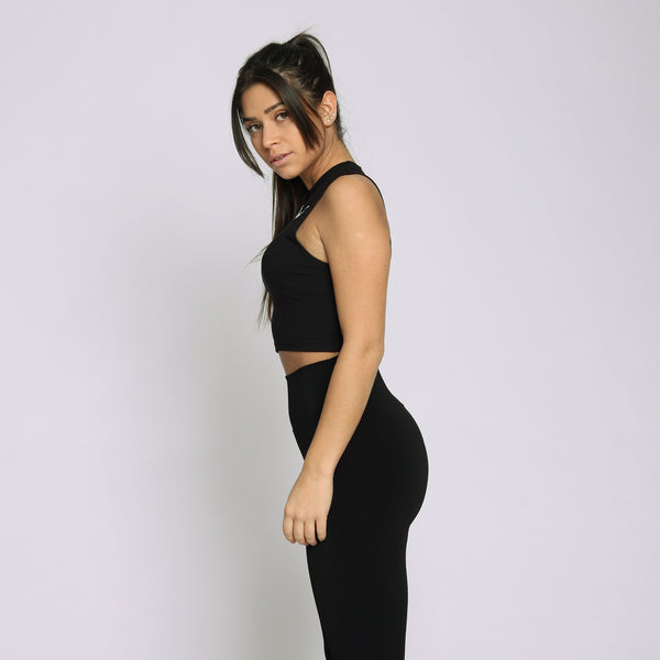 Bamboo Black Cropped Tank Top - WDCS | Widesthetics