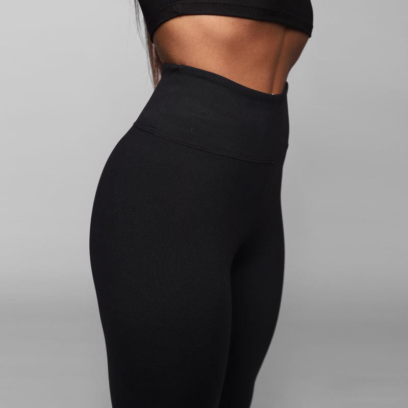 High Waisted Black Leggings - WDCS | Widesthetics
