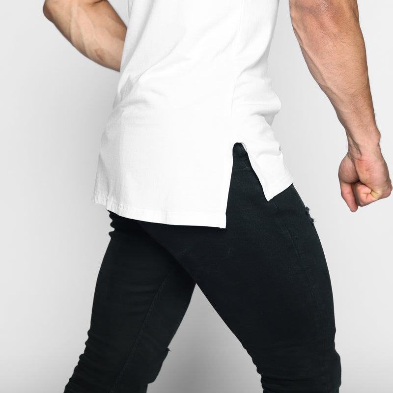 White Elongated Tee - WDCS | Widesthetics