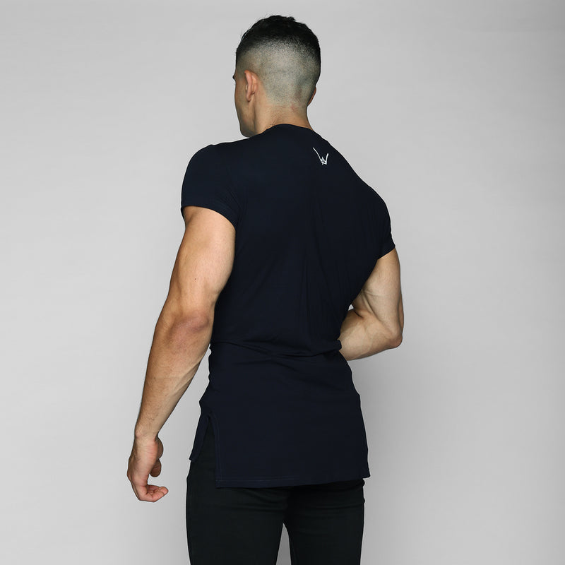 Navy Elongated Tee - WDCS | Widesthetics