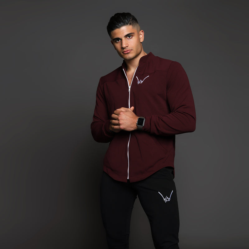 Matte Merlot Athletic Scuba Coat - WDCS | Widesthetics
