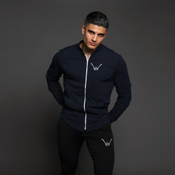 Matte Navy Athletics Scuba Coat - WDCS | Widesthetics