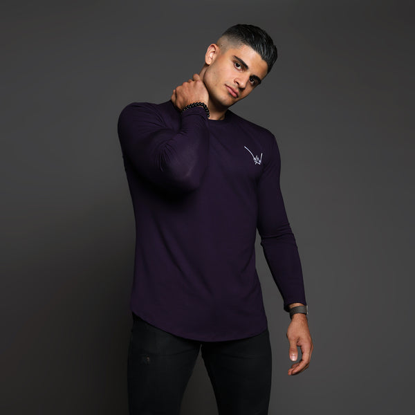 Bamboo Embroidered LS Urban Plum Shirt - WDCS | Widesthetics