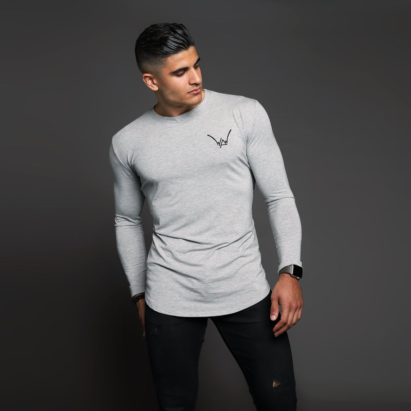 Bamboo Embroidered LS Urban Shadow Grey Shirt - WDCS | Widesthetics