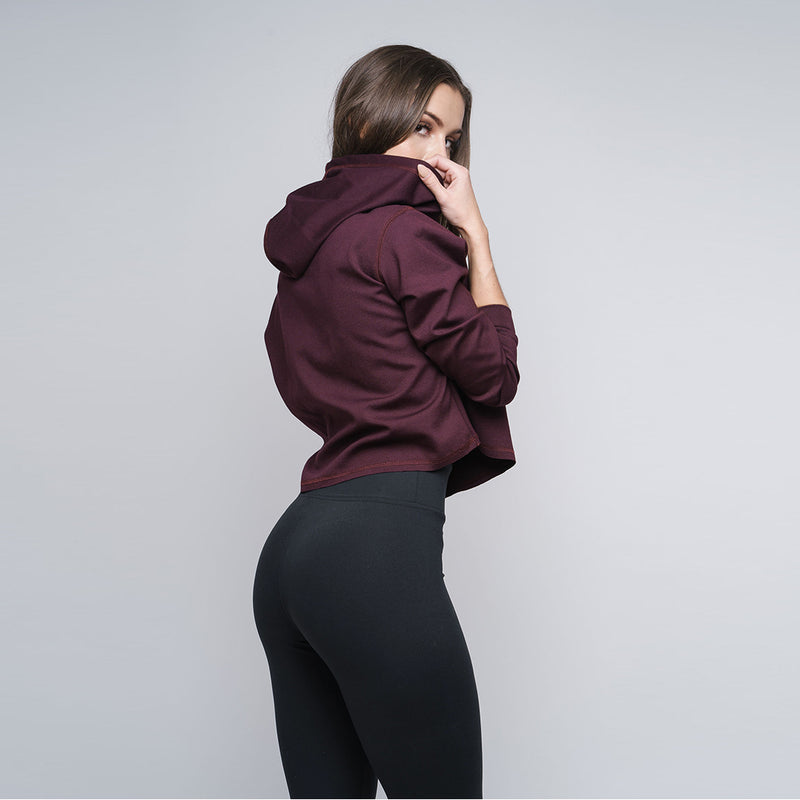 Red Wine Cropped Hoodie - WDCS | Widesthetics
