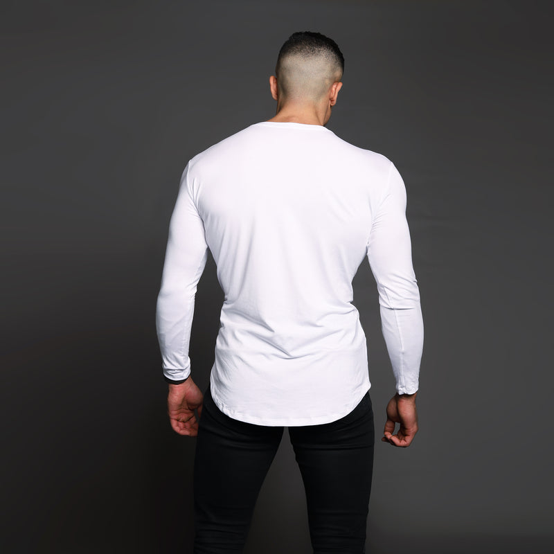 Bamboo Embroidered LS Urban Mykonos White Shirt - WDCS | Widesthetics