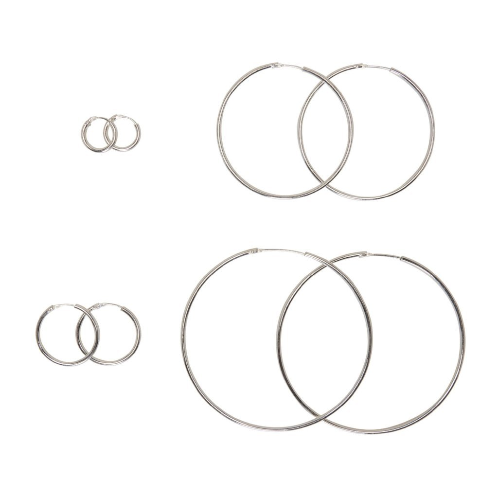 .925 Silver Hoops - Mile End Jewelry