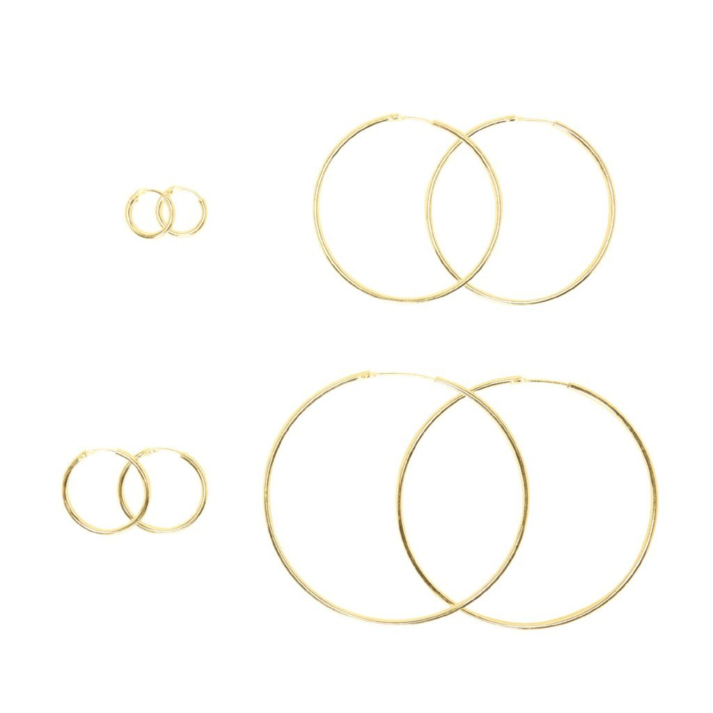 14k Gold Hoops - Mile End Jewelry