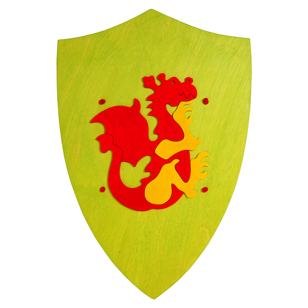 Wooden Red Dragon Shield