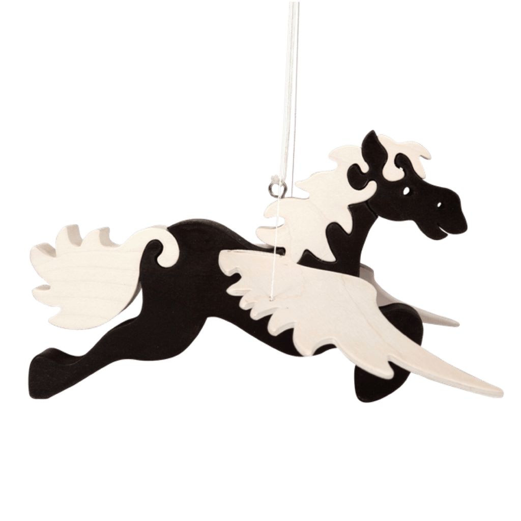 Hanging Black Pegasus Toy
