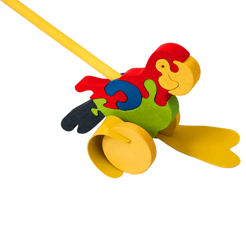 Push Along Parrot Toy