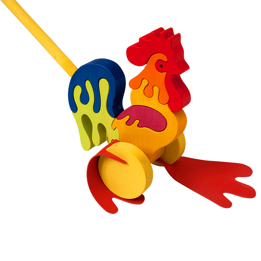 Push Along Rooster Toy