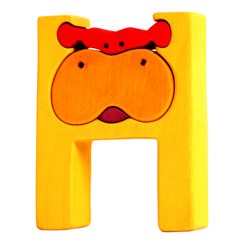 H for Hippo Puzzle