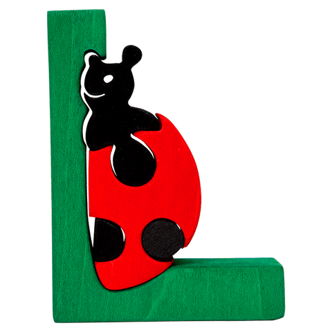 L for Ladybug Puzzle