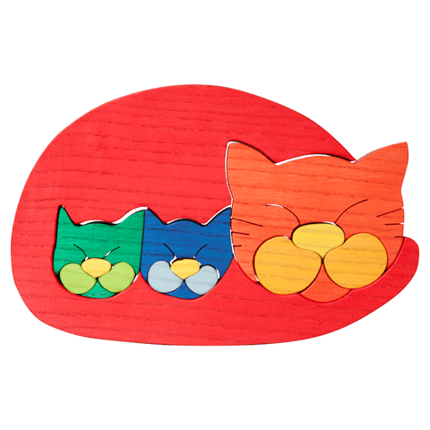 Cat Family Puzzle - Red