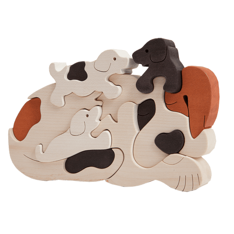 Dog Family Puzzle - White