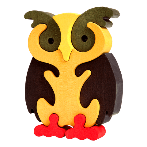 Owl Puzzle - Brown