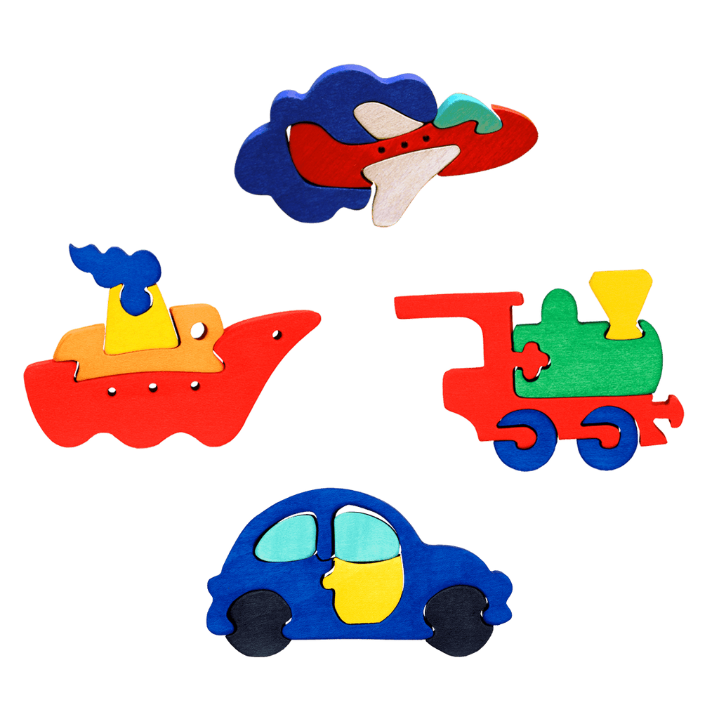 Vehicles Four Piece Puzzle Set
