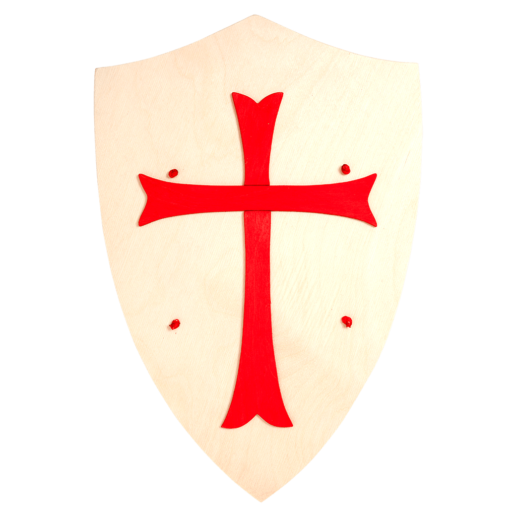 Wooden Red Cross Shield