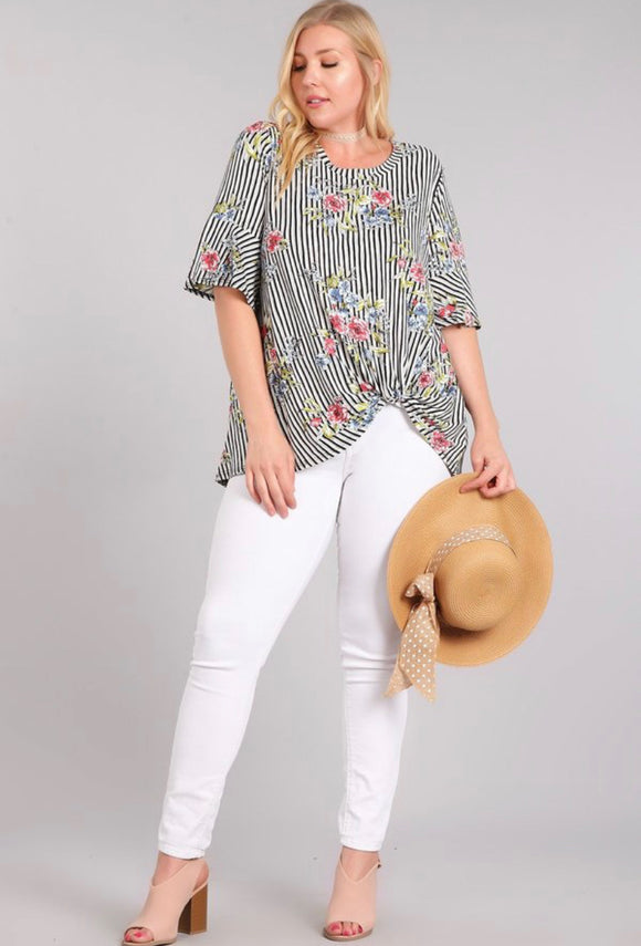 Chris & Carol Plus Size Floral Top