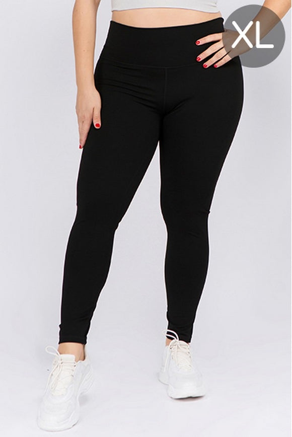 Black Plus Active Leggings