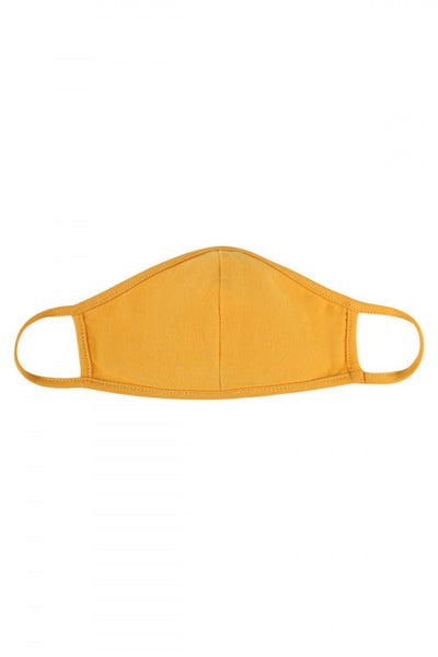 Kids Reusable Mask-Light Mustard