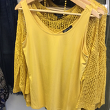 Charlie B Mustard Bamboo Stretch Tank Top