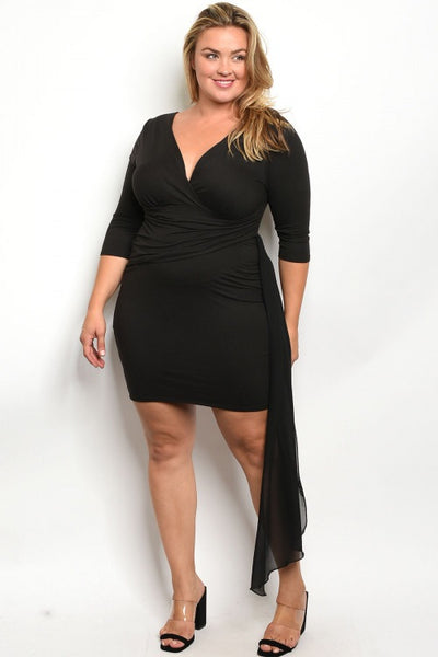 Black Plus Size Dress SALE