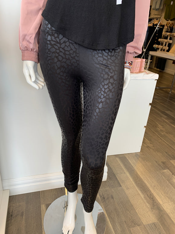 Love Tree Pleather Leggings