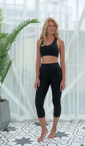 Bamboo High Waist Capri One Size