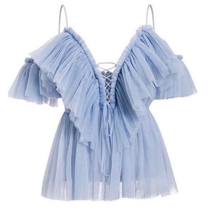 Ruffle my Fancy Blue