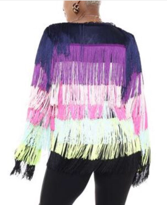 Fancy Fringe Cardigan Jacket
