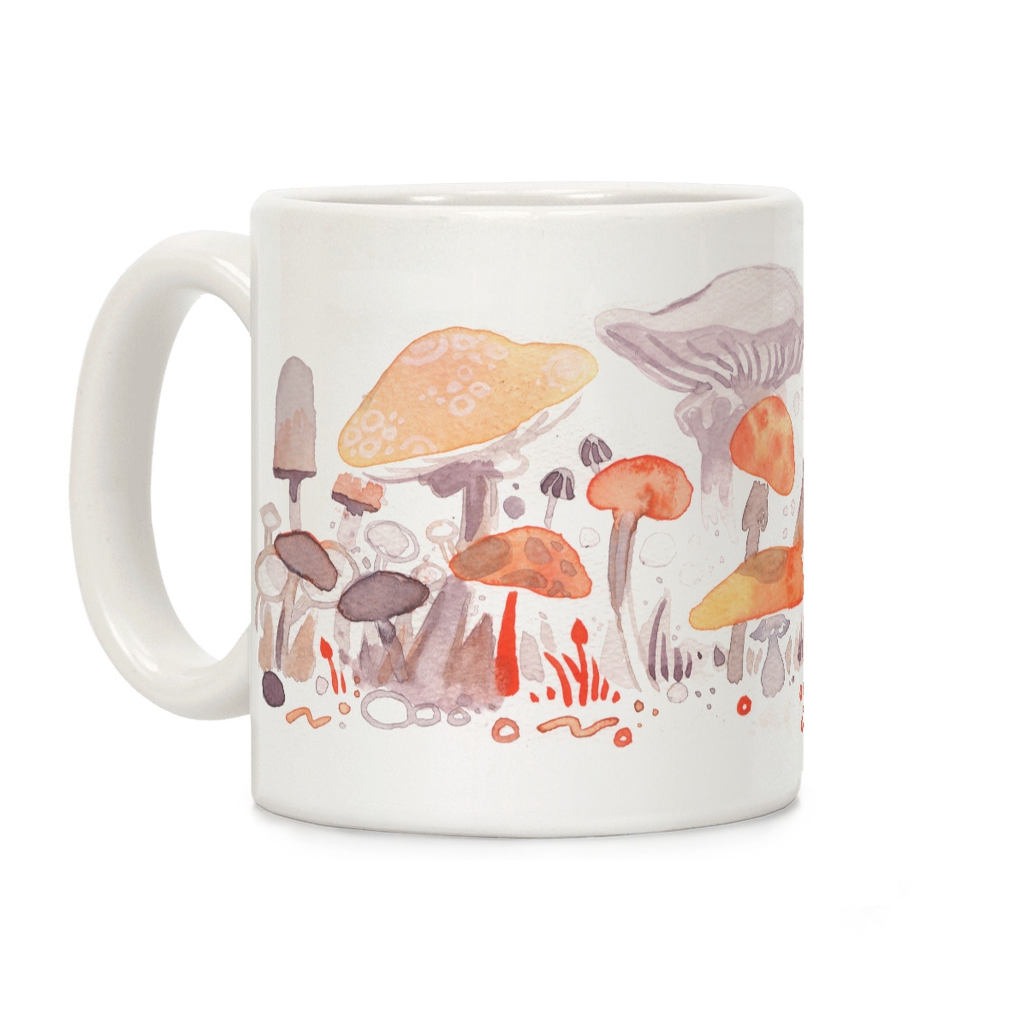 Mushroom Garden Pattern Ceramic Coffee Mug by LookHUMAN