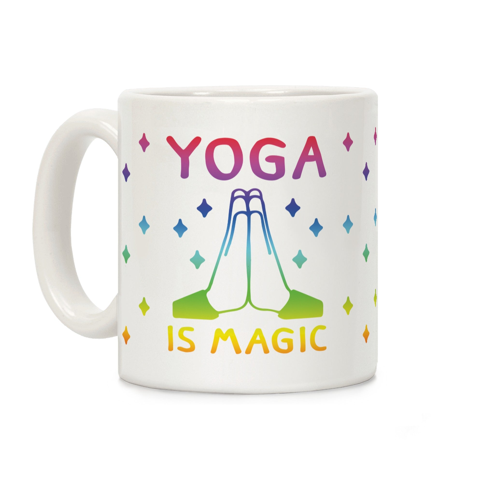 Yoga Is Magic Ceramic Coffee Mug by LookHUMAN