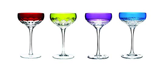 Waterford Mixology Champagne Coupe Set of 4 Colours, Lead Crystal, Multi, 80ml