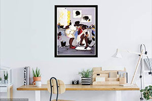 The Art Depot Burn You Baby? by Annie Lee (26 x 22.5 inches - Black Frame)