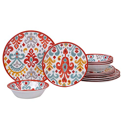 Certified International 89528 Bali Dinnerware, Dishes, Multicolor