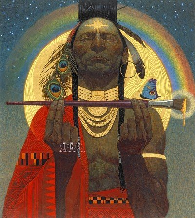 The Collection Shop Thomas Blackshear Indian Paint Brush Giclee On Canvas