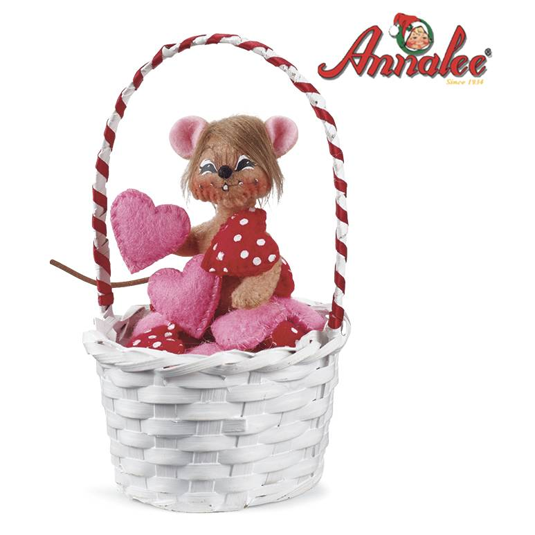 Annalee ; Basket of Love Collectible Mouse by Potpourri